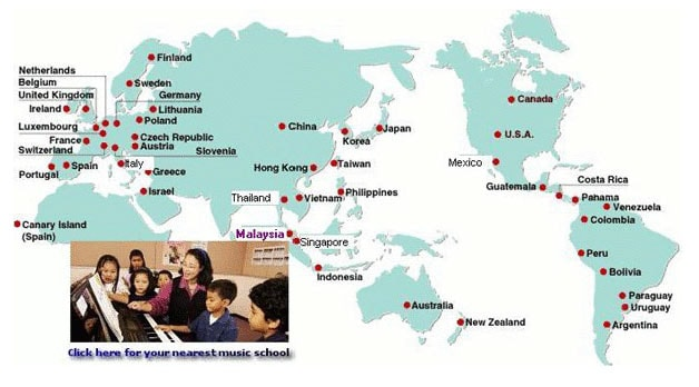 Yamaha music education system course for Yamaha music school locations