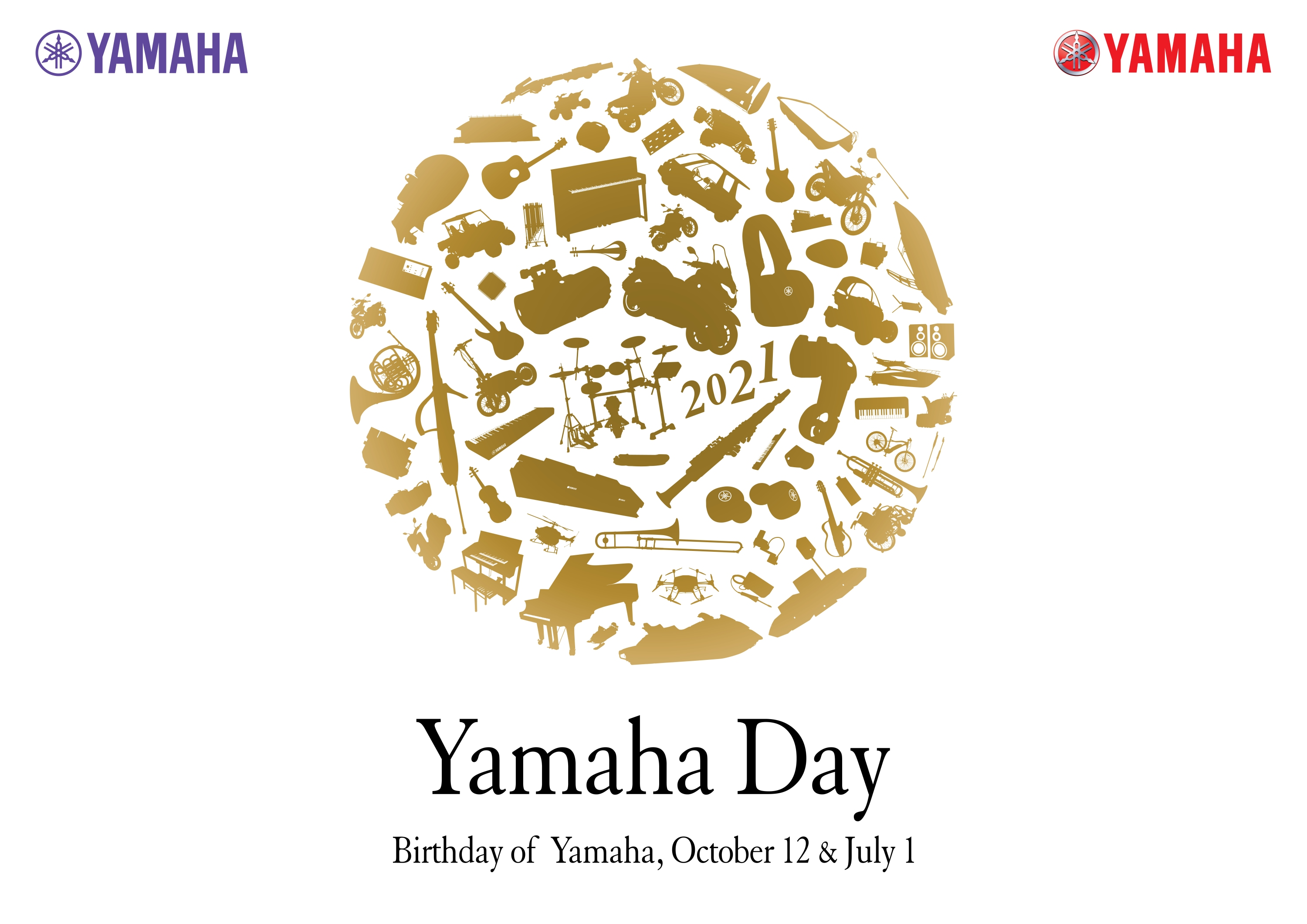 The 12th of October is Yamaha Day  where we celebrate the anniversary of the establishment of Yamaha Corporation on October 12, 1897!
